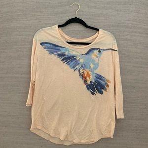 Lucky Brand Hummingbird Tee